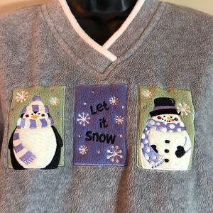 Let it Snow Fleece Pullover